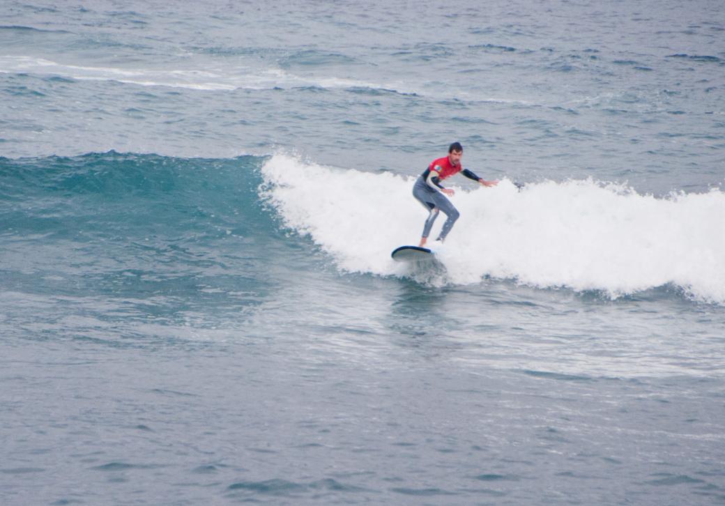 Steve Maraspin surfing in Tenerife